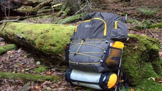 how to attach a tent to external frame backpack