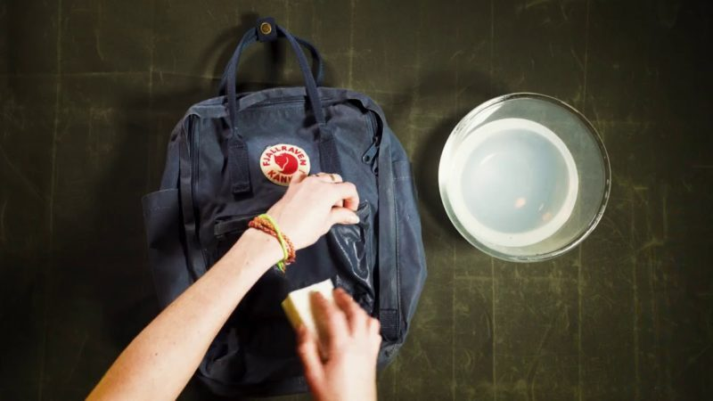 how to clean your backpack