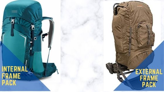 internal and external frame backpack