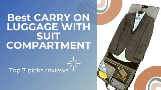 carry-on luggage with suit compartment
